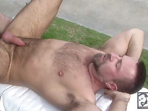 Sexy Muscle Bears Fuck each other Poolside