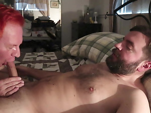 Intense cum in Daddy's mouth