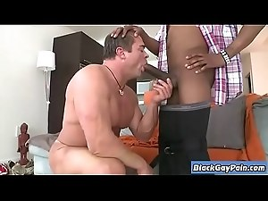 ItsGonnaHurt - Interracial Bareback Big Cock Gay Fucking - www.BlackGayPain.com 22